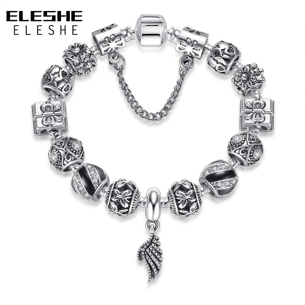 Autentiska 925 emalja sudraba kristāla pērlītes rokassprādze - Modes rotaslietas - Foto 5