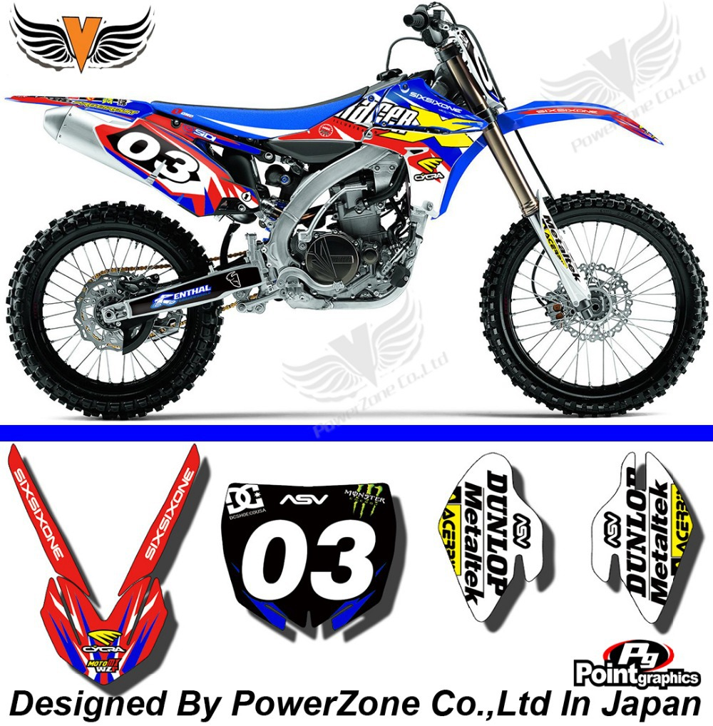 Bike sticker design online - Yzf 450 2010 2011 2012 2013 Team Graphics Backgrounds Decals Stickers Motor Cross Motorcycle Dirt Bike