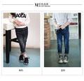 Новый мальчик брюки девочек Осень 2016 новых детских джинсы джинсовые брюки женские детские брюки