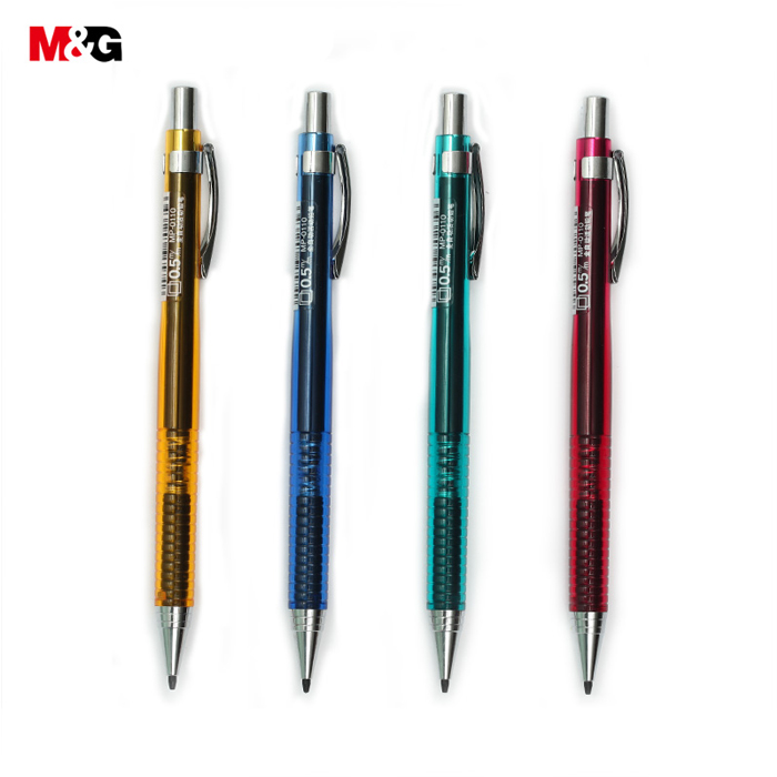 4pcs 0.5/0.7mm Mechanical Pencil Automatic Graphite Drafting Sketch Drawing for Kids School Supplies Stationery
