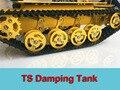Официальный DOIT TS100 Золотисто-Желтый Демпфирования амортизация Робот цистерны Подвеска Шасси Caterpillar Tractor Chassis clawler