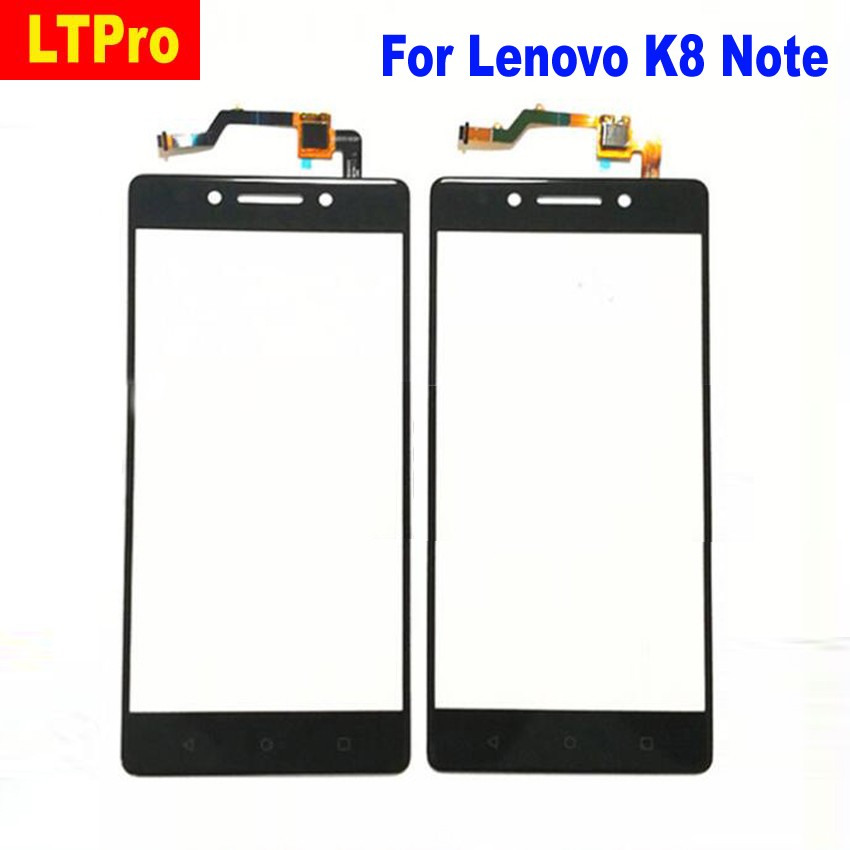 LTPro Black white Outer Glass Panel Touch Screen Digitizer For Lenovo K8 Note Phone Replacement Parts
