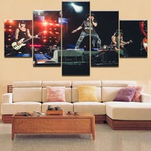 5 Pieces HD Printing Guns N Roses Concert Painting Type Poster Modular For Home Decorative Bedroom Living Room Framework