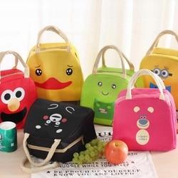 Saco de almoço de animais dos desenhos animados saco de almoço portátil isolado refrigerador sacos de comida térmica piquenique lancheira