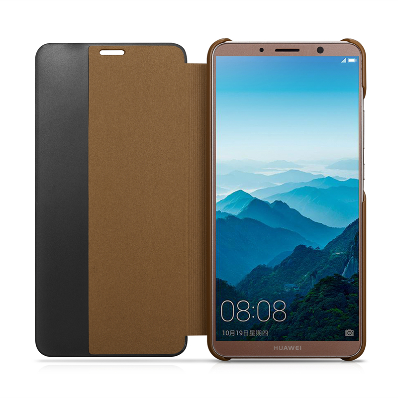 for Huawei Mate 10 pro Sleep Case for Huawei mate 10 Genuine Leather Case Bag Mate 10 Real Leather Cover Flip Smart Phone Case