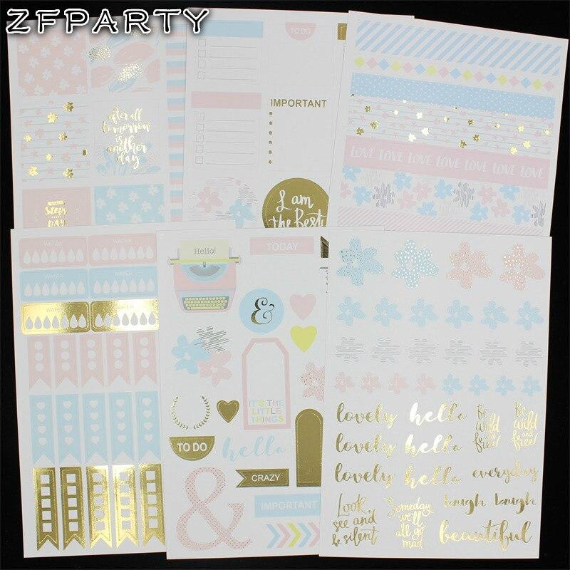 Zfparty время путешествовать самоклеящиеся Бумага Стикеры для Скрапбукинг/DIY ремесла/карты внесении украшения
