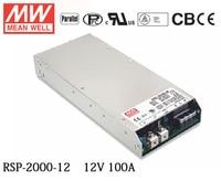 MEAN WELL RSP 2000 12 meanwell 1200 Watt Single Output mit Pfc funktion Stromversorgung RSP 2000-in Lichttransformatoren aus Licht & Beleuchtung bei