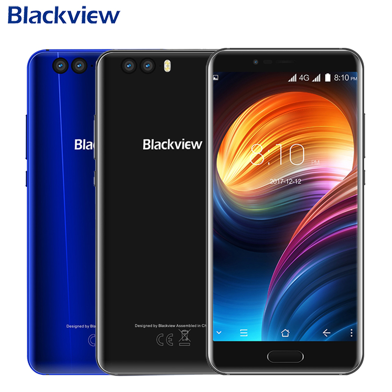 Original Blackview P6000 Mobile Phone 5.5 inch 6GB RAM 64GB ROM MTK6757CD Octa Core Android 7.1 Dual Camera 6180mAh Smartphone