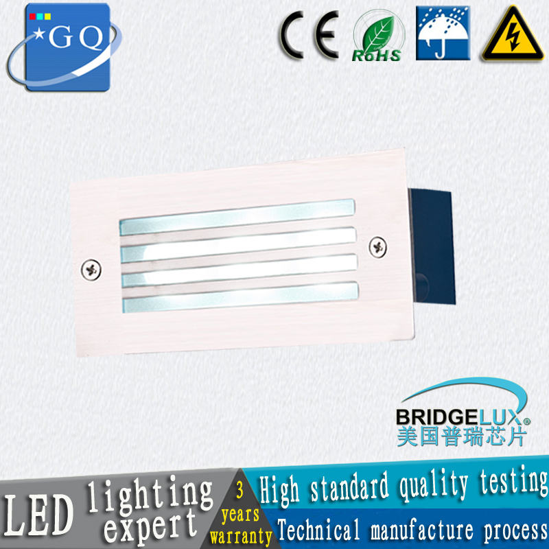 Basement Stair Ceiling Lighting: Waterproof Led Wall Corner Lamp 5W LED Recessed Step Stair