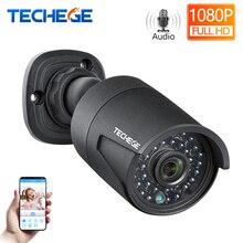 Techege 2MP 48 V POE ip-камера аудио запись Ночное видение Водонепроницаемый IP66 открытый P2P ONVIF обнаружения движения ip кулачка для видеонаблюдения NVR
