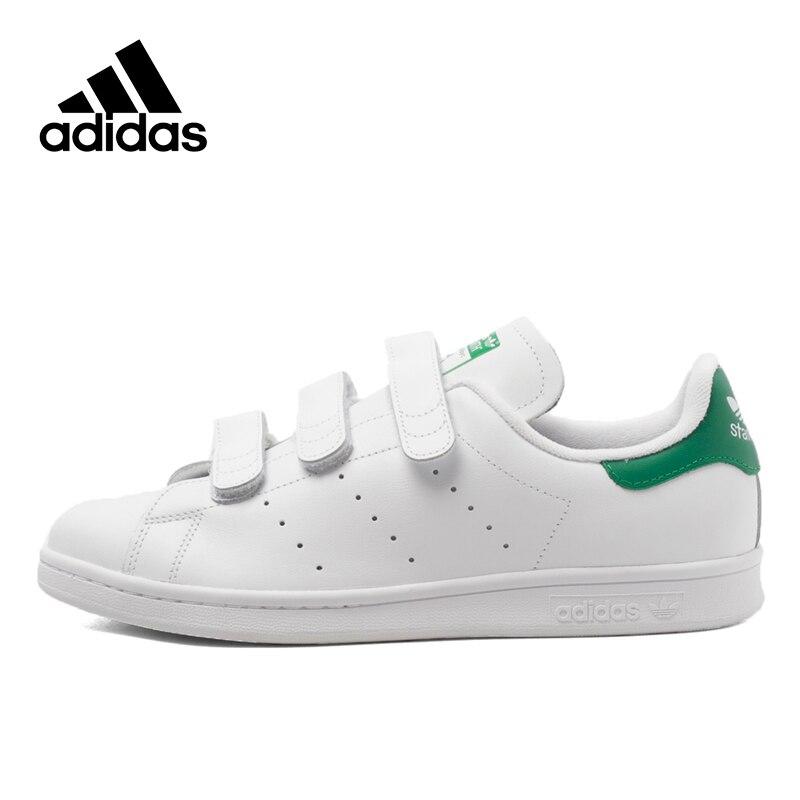 Chic Adidas Sneakers Originals Sports White Unisex Skateboarding Shoes Hook&Loop Low-tops Genuine Adidas Women Sneakers adidas samoa kids casual sneakers