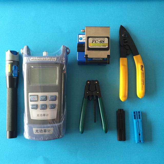 Kit de Fibra óptica com Clivador de Fibra ótica e medidor de energia de Fibra Fault Locator 5 km