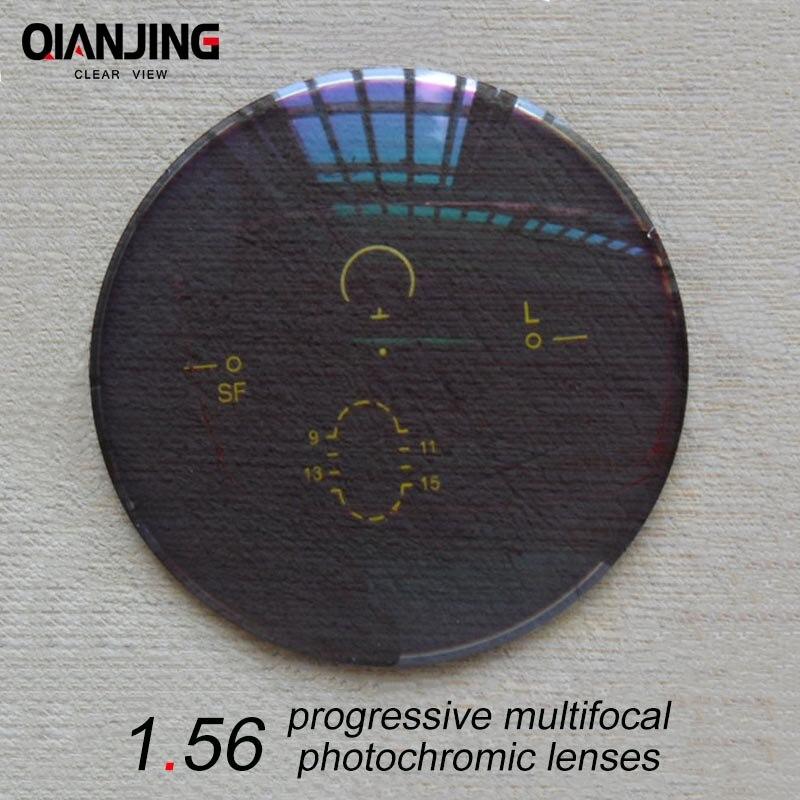 QJ 1,56 индекс широкое поле интерьер прогрессивные Мультифокальные фотохромные линзы рецепт близорукость дальнозоркостью астигматизм линзы