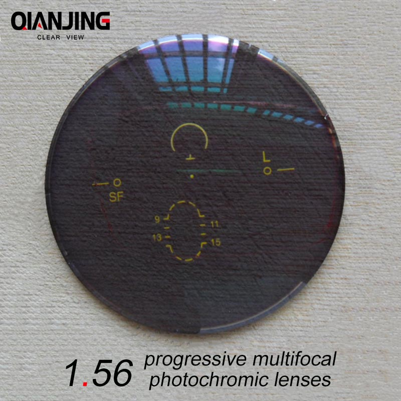 QJ 1.56 Index Wide Field Interior Progressive Multifocal Photochromic Lens Prescription Myopia Presbyopic Astigmatism Lenses-in Eyewear Accessories from Apparel Accessories