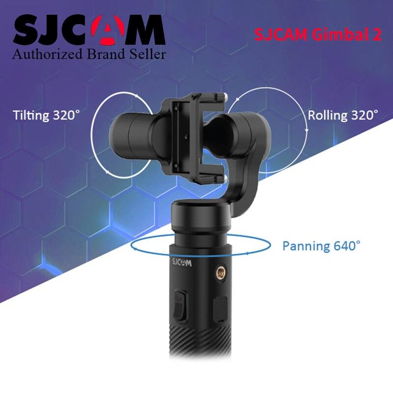 New 3-Axis Handheld SCJAM Gimbal 2 Stabilizer for Original SJCAM SJ8 pro sj8 plus /air SJ7 Star S6 Legend Wifi 4k Action Camera