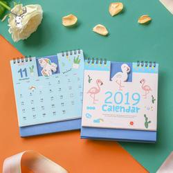 2019 Новый Kawaii мультфильм свинья календарь с изображением фламинго 15*16 см креативный стол Вертикальная бумага мульти-Функция Расписание