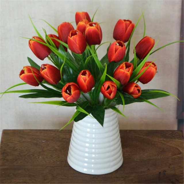 10p Artificial Tulip Bunch Flower 6 Heads/piece Fake Tulips 30cm 9 ...
