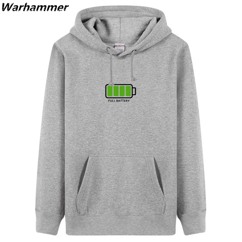Warhammer Embroidery Hoodie Sweatshirt Men Autumn Winter Funny Hoodie DIY Style Full Low Battery Fleece Cotton Survetement Homme