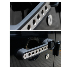 5pcs/set Aluminium Alloy Vehicle Door Handle Car Cover for Jeep Wrangler 2007-2015 Accessories Free Shipping