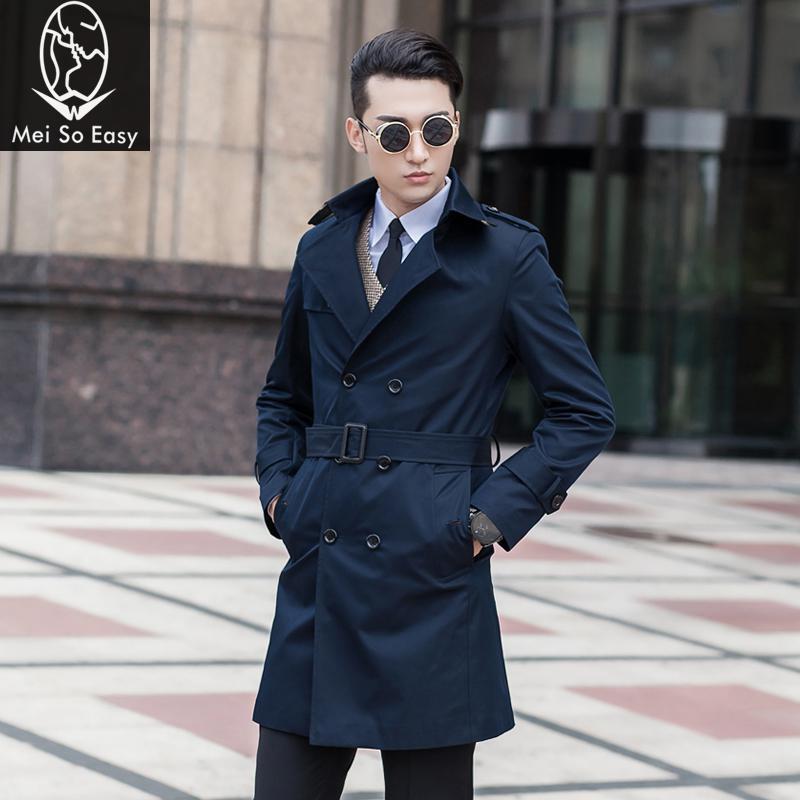 New Arrival Men Suit Fashion Autumn Obese Trench Slim Outerwear Male Plus Size M L Xl Xxl 3xl 4xl 5xl 6xl 7xl 8xl 9xl 10xl