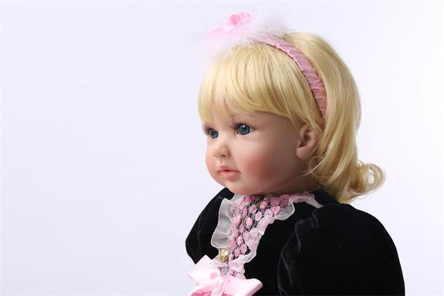 60cm Silicone Reborn Baby Doll Toys Princess Toddler Babies Lovely Birthday Present Gift Girls Brinquedos Limited Collection Dol