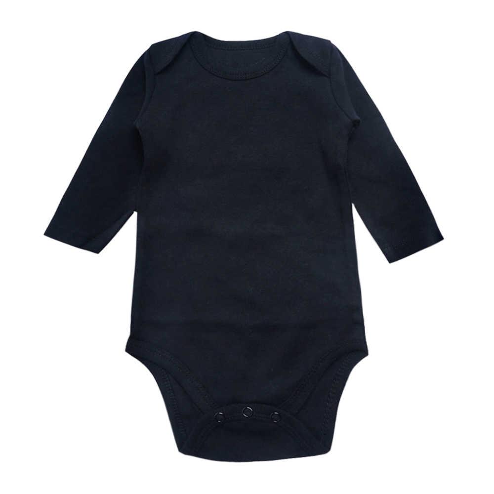 Боди для новорожденных, черный комплект из 3 предметов, 100% хлопок, длинный рукав, место, унисекс, Детские Боди для мальчиков и девочек от 0 до 12 месяцев, Одежда для младенцев