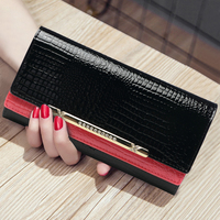 2018 New Style Fashion Women Banquet Clutch Bag Long Purse Cover Cowhide Top Leather Card Package Modern Wallet Birthday Gifts