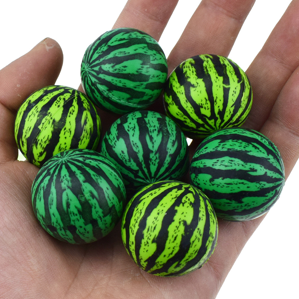 3pcs/lot Kids Green Watermelon Ball Elastic Ball 30MM Special For Toy Ball Twisting Machine Toy Ball For Children Outdoor Toys