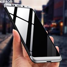 KINBOM 360 Degree Full Protection Case For Xiaomi Redmi 5 6 7 Matte Hard 3 In 1 5Plus 4A 4X 5A 5X 6A 6PRO cover
