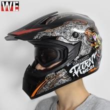 WOSAWE Moto Motocross Helmet Motorcycle Off Road Safety Protection Gear Motorbike Racing Dirt Bike with motorcycle gloves