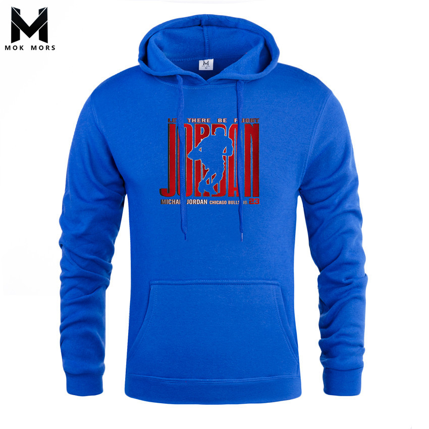 Mens Hoodies Long-Sleeve High-Street Fashion Print Large-Size Casual New