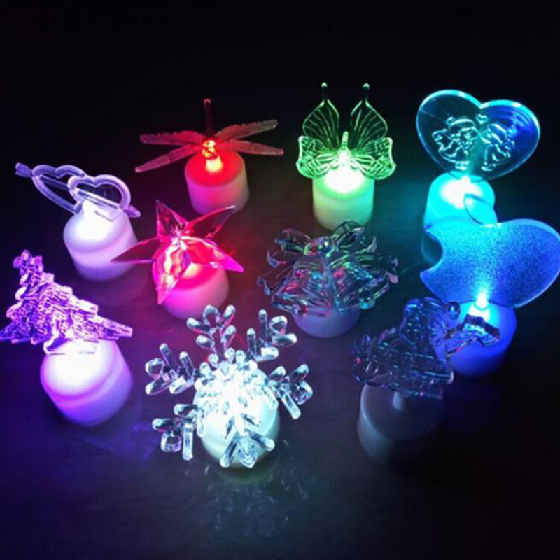 2014 National Christmas Tree Lighting: LED Party Toys Acrylic Christmas Tree Santa Claus Colorful
