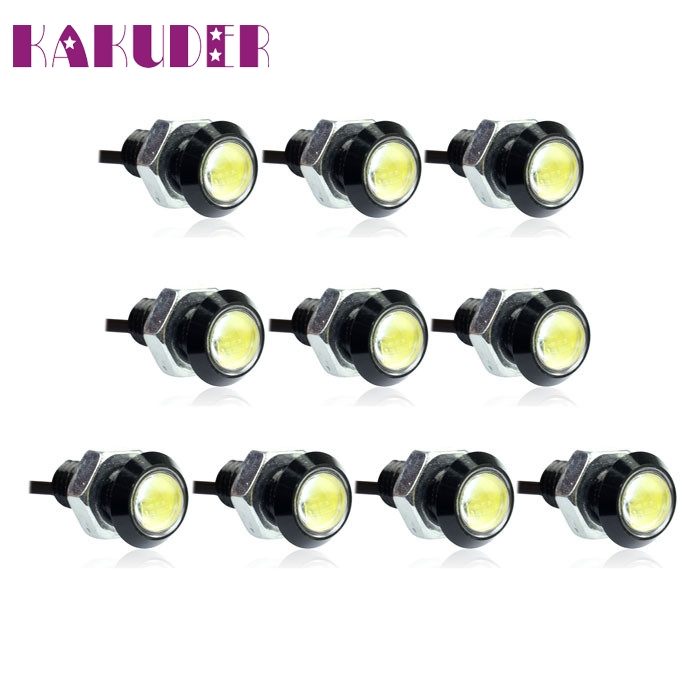 NEW 10pcs Car Eagle Eye LED Daytime Running DRL Tail Backup Light 3W White fashion hot L615 6w high power led larger lens car led eagle eye daytime running drl light tail light backup rear lamp white green blue red color