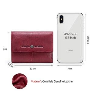 Image 5 - Contacts billeteras de piel auténtica para mujer, Tarjetero con cremallera, monedero pequeño, bolso de mano, billetera
