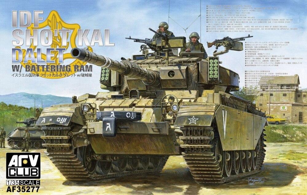 AFV Club 1/35 IDF Centurion Sho't Kal Dalet with Battering Ram Tank #AF35277 afv club 35100 1 35 raac centurion mk 5 1vietnam