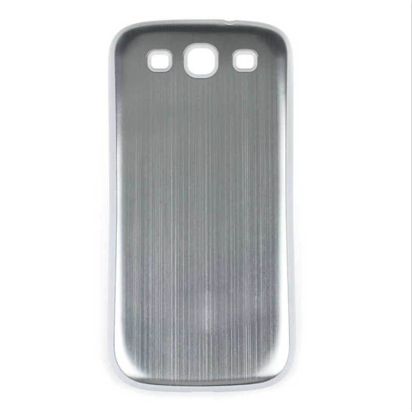 New Brushed Aluminum Battery Back Door Cover Shockproof Phone Case For Samsung Galaxy S3 I9300  Metal surface telefon kılıfı