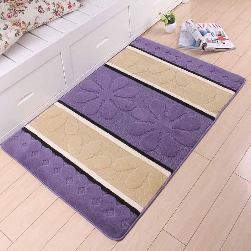 3D Цветочный узор Коврик для ванной комнаты 1 шт. домашний Декор коврик для ванной коврик для кухни дверной проем 50*80 см коврик для ванной