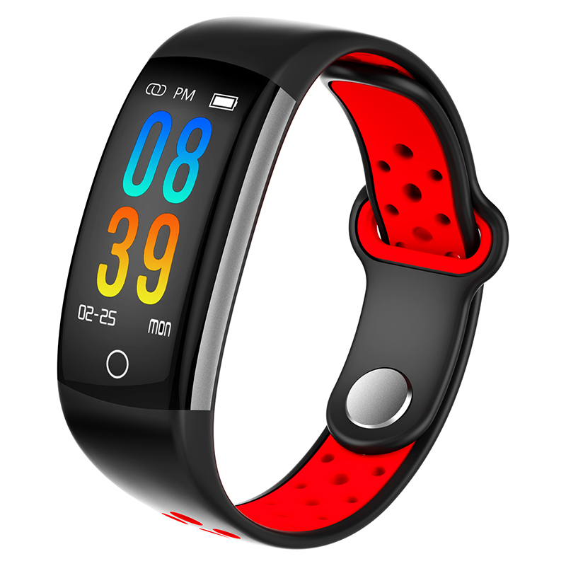 Q6 Smart bracelet heart rate monitor Blood Pressure Fitness Tracker smartband sport watch for ios android PK xiaomi mi band 3 m88 smart band blood pressure wrist watch pulse meter monitor cardiaco fitness tracker smartband for ios android bracelet