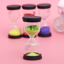 3Pc New 1/3/5 Minutes Plastic Hourglass Colorful Sand Toothbrush Shower Timer Clock Gift for Kids Home Decorations
