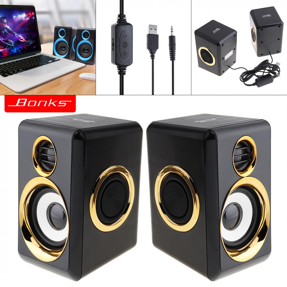 Bonks Subwoofer-Speaker Audio-Plug Desktop Mini K1 USB With And For Laptop/Mp3/phone