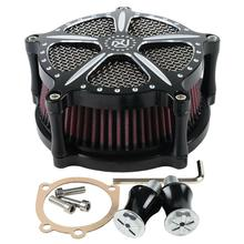 Motorcycle Chrome/Black Speed 5 Air Cleaner Contrast Cut For Harley Sportster Iron 883 XL 883 1200 1991-18 Forty Eight 10-14 5 models motorcycle black passenger rear seat pad leather pillow for harley sportster xl 1200 883 72 48 forty eight 2010 2015