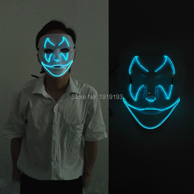 El Wire Light Up Mask - DATA WIRING •