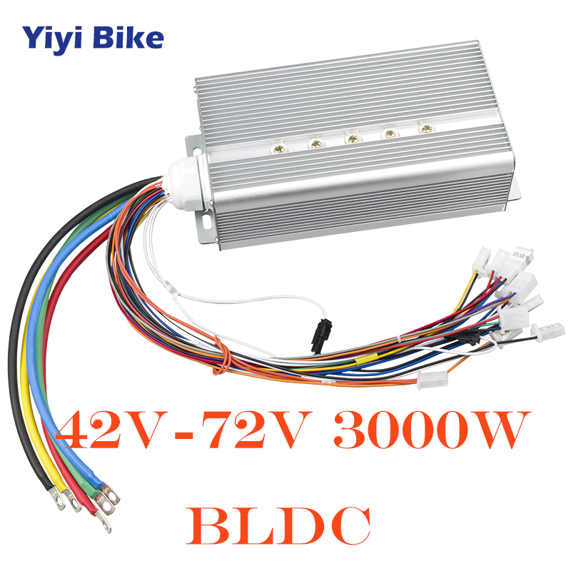 72V 3000W 50A DC Controller Electric Bicycle Conversion Kit Brushless Motor Controller Phase Degree 120 E