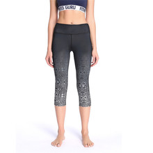 High waist elasticity Yoga Pants Seven points Digital printing Tight Sexy Fitness Sportswear clothes Factory Outlet Dropship
