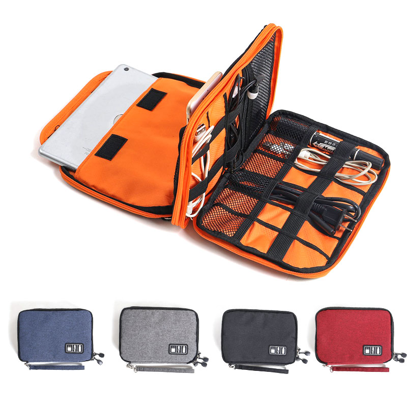 waterproof Ipad organizer USB data cable earphone wire pen power bank travel storage bag kit case digital gadget devices travel earphone cable usb digital cosmetic bag portable gadget organizer storage makeup bag