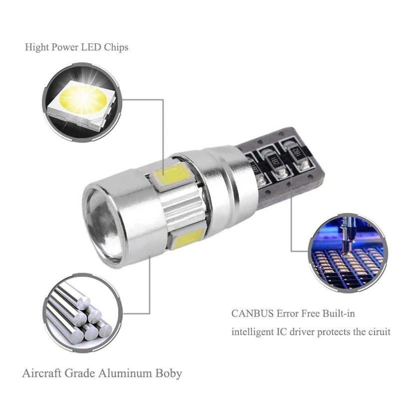 BOAOSI 2x T10 LED W5W Samsung 5630SMD Автомобилни - Автомобилни светлини - Снимка 2