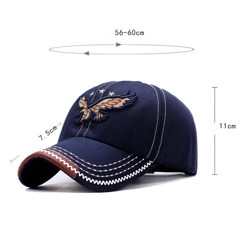 HTB1XYbje2WG3KVjSZFPq6xaiXXaT - New 3D Eagle Embroidery Baseball Cap Male Cap Hip Hop Flat Along Snapback Hats Baseball Cap Lovers Cap For Men & Women #30