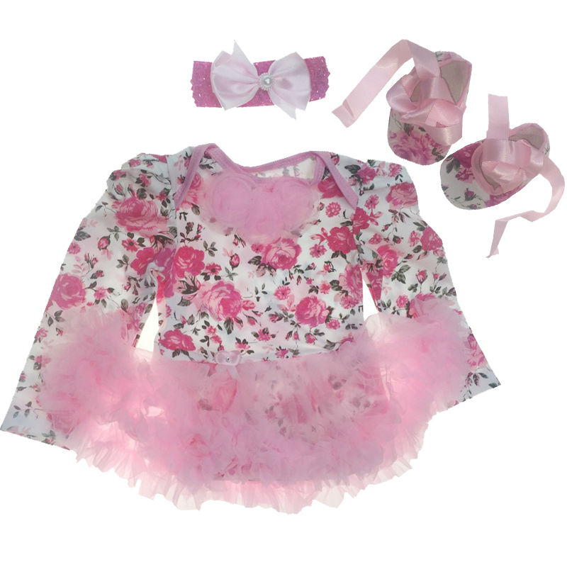 Newborn Baby Clothing Sets summer Baby girl Clothes 3Pcs/ Suits infant clothing Toddler Girl clothes bebe Birthday Sets baby girl infant 3pcs clothing sets tutu romper dress jumpersuit one or two yrs old bebe party birthday suit costumes vestidos