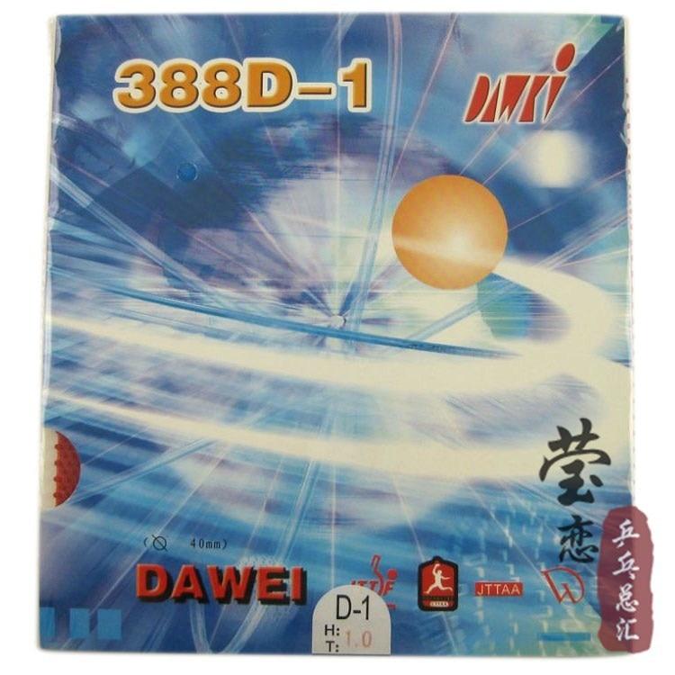 Original dawei 388D-1 ping pong getah jerawat panjang yang aneh raket meja raket raket sukan dan praktikal getah