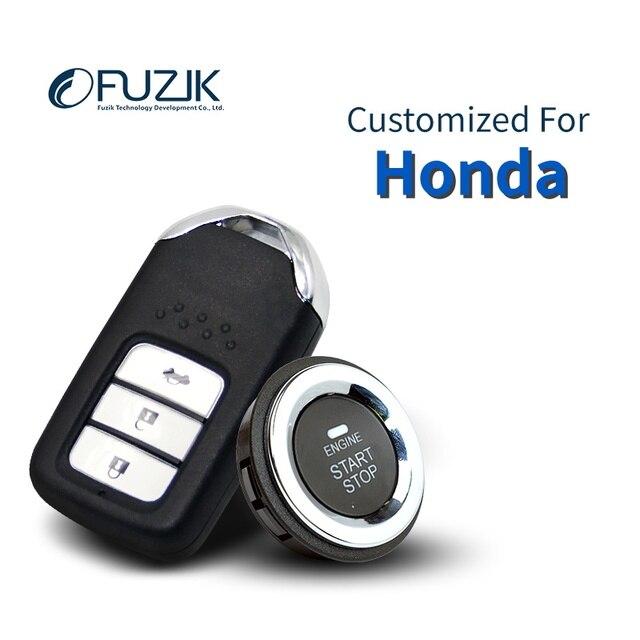 Fuzik Keyless Go Smart Key Entry Push Remote On Start Car Alarm For Honda Accord